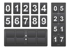Countdown timer. Black mechanical scoreboard panel. Illustration on white background Royalty Free Stock Image