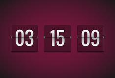 Countdown timer clock counter. Flip vector timer template. Display information of minute, hour. Scoreboard info Royalty Free Stock Images