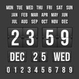 Countdown Timer and Date, Calendar Scoreboard. Vector Countdown Timer and Date, Calendar Scoreboard Numbers Vector Illustration