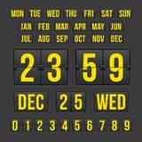 Countdown Timer and Date, Calendar Scoreboard Royalty Free Stock Photo