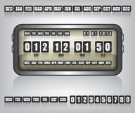 Countdown Timer and Date illustration Stock Photos