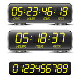 Countdown timer. Detailed illustration of a digital countdown timer with LED-Digits Royalty Free Stock Photography
