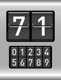 Countdown timer. With different numbers stock illustration