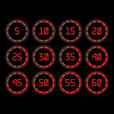 Countdown timer with five minutes interval in modern style. Royalty Free Stock Images