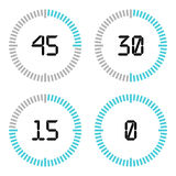Countdown timer with five minutes interval in modern style. Stock Photo