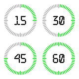 Countdown timer with five minutes interval in modern style. Royalty Free Stock Photography
