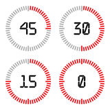 Countdown timer with five minutes interval in modern style. Royalty Free Stock Photo