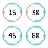 Countdown timer with five minutes interval in modern style. Stock Photos