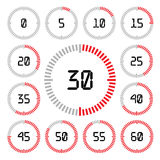 Countdown timer with five minutes interval in modern style. Royalty Free Stock Image