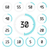 Countdown timer with five minutes interval in modern style. Stock Images