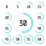Countdown timer with five minutes interval in modern style. Stock Image