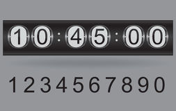Countdown timer. Illustration of vector countdown timer Stock Image