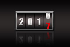 2017 countdown timer  isolated on black background. Stock Photography
