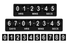 Countdown Timer. Mechanical countdown timer showing days, hours, minutes and seconds Stock Photography