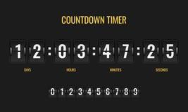 Countdown timer. Meter scoreboard digital watch mechanics counter information down number counting clock day template. Countdown timer. Meter scoreboard digital vector illustration