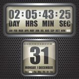 Countdown timer on octagon background Royalty Free Stock Images
