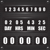 Countdown timer on octagon metal background Stock Photo