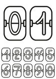 Countdown timer, scoreboard with hand drawing digits, hand drawing numbers Stock Images