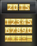 Countdown timer. Set of white digital numbers. This is file of EPS10 format Royalty Free Stock Photography