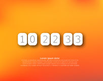 Countdown timer vector clock counter Royalty Free Stock Photo