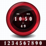 Countdown timer. Vector countdown timer - easy change time Stock Image