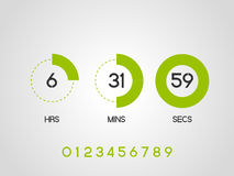 Countdown timer Royalty Free Stock Photography
