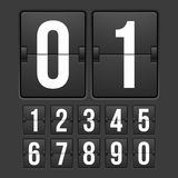 Countdown timer, white color mechanical scoreboard Royalty Free Stock Photo