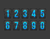 Countdown timer, white color mechanical scoreboard Stock Photos