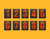 Countdown timer, white color mechanical scoreboard Stock Photography