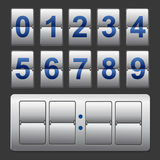 Countdown timer, white color mechanical scoreboard with different numbers Royalty Free Stock Photography
