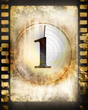 Countdown. To the beginning of the movie (on a film strip Royalty Free Stock Photos