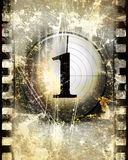Countdown. To the beginning of the movie (on a film strip Stock Images