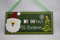 Countdown to Christmas Royalty Free Stock Images