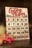 Countdown to Christmas. Holdiay calendar royalty free stock photos