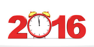 Countdown to 2016 clock Stock Image
