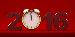 Countdown to 2016 clock Stock Photos