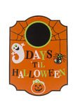 Countdown to Halloween. A Halloween countdown calendar against a white background stock images
