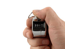 Countdown to the New Year. A Mechanical number clicker moving to 2011 stock photo