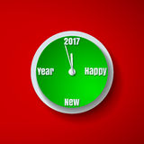 Countdown to New Year 2017 Paper Cut Background Stock Image