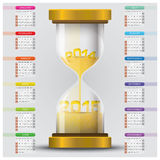 Countdown To Year 2015 With Sandglass Calendar. Design Template Stock Photography