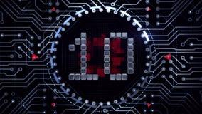 Countdown to Zero - Motion Graphics stock footage