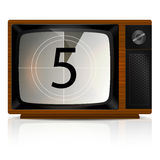 Countdown 5 on TV Stock Photo
