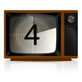 Countdown 4 on TV Stock Photos