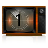 Countdown 1 on TV Royalty Free Stock Image