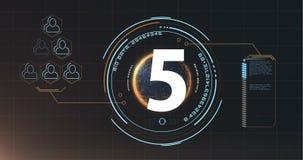 Countdown-Video 4k lizenzfreie abbildung