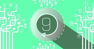 Countdown-Video 4k stock abbildung