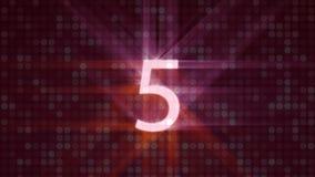 Countdown-Video stock abbildung