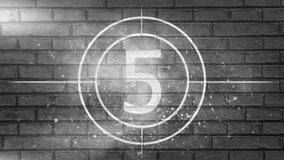 Countdown-Video lizenzfreie abbildung