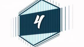 Countdown von einem bis zehn Lebhafte Zahlen für Screensavers und explosive Entdeckungen von Ereignissen entziehen Sie Hintergrun vektor abbildung