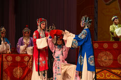 """A countenance with a forced smile- Beijing Opera"""" Women Generals of Yang Family"""" Royalty Free Stock Photo"""